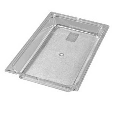 "Carlisle Full Size Clear Food Pan 12-3/4"" x 20-3/4"" x 2-1/2"" Deep"