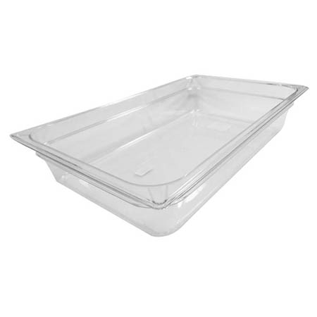 "Carlisle Full Size Clear Food Pan 12-3/4"" x 20-3/4"" x 4"" Deep"