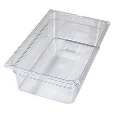 "Carlisle Full Size Clear Food Pan 12-3/4"" x 20-3/4"" x 6"" Deep"