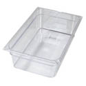 Carlisle Full Size Clear Food Pan 12-3/4\x22 x 20-3/4\x22 x 6\x22 Deep