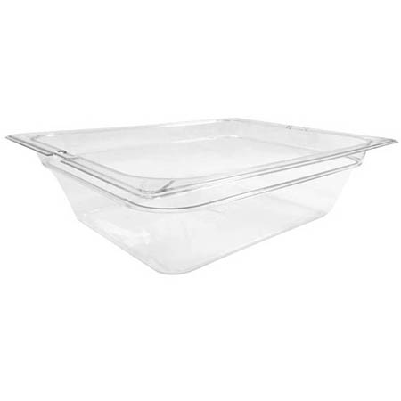 "Carlisle StorPlus 1/2-Size Clear Food Pan 10-3/8"" x 12-3/4"" x 4"" Deep"