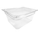 Carlisle 1/2-Size Clear Food Pan 10-3/8\x22 x 12-3/4\x22 x 6\x22 Deep