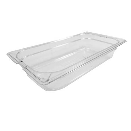 "Carlisle StorPlus 1/3-Size Clear Food Pan 7"" x 12-3/4"" x 2-1/2"" Deep"
