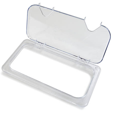 "EZ Access Hinged Clear Lid for Carlisle StorPlus 1/3-Size Food Pan 12-3/4"" x 7"" x 2"""