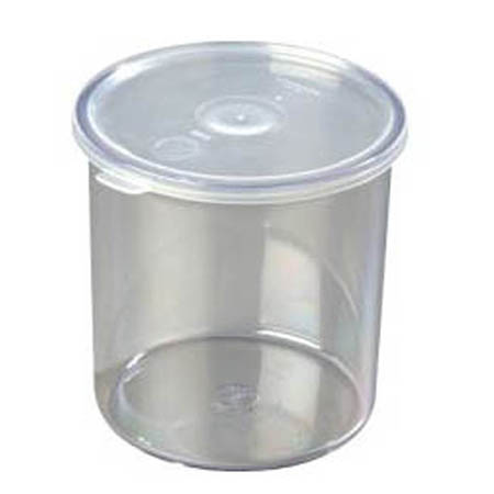 Carlisle 2.7-Quart Clear Plastic Salad Crock with Lid