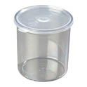 Carlisle 1.2-Quart Clear Plastic Salad Crock with Lid