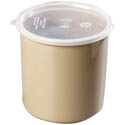 Carlisle 2.7-Quart Beige Plastic Salad Crock with Lid