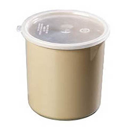 Carlisle 2.7-Quart Beige Polypropylene Crock with Lid