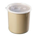 Carlisle 1.2-Quart Beige Polypropylene Crock with Lid