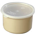 Carlisle 1.5-Quart Beige Polypropylene Crock with Lid