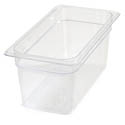 Carlisle StorPlus 1/3-Size Clear Food Pan 12-3/4\x22 x 7\x22 x 6\x22 Deep