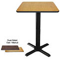 "Dual-Sided Oak/Walnut Bar-Height Table Kits 41""H"