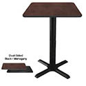 "Dual-Sided Black/Mahogany Bar-Height Table Kits 41""H"