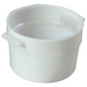 Carlisle 2-Quart White Round Food Storage Container 4-1/2\x22H