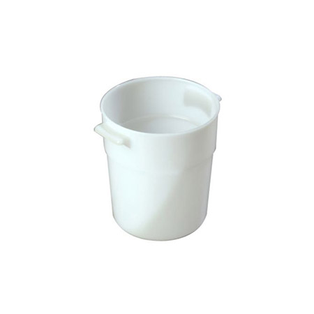 "Carlisle 3-1/2-Quart White Round Food Storage Container 7-1/2""H"
