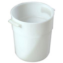 Carlisle 3-1/2-Quart White Round Food Storage Container 7-1/2\x22H