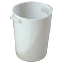 Carlisle 8-Quart White Round Food Storage Container 11\x22H