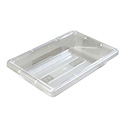 Carlisle StorPlus 2-Gallon Clear Food Storage Box 18\x22 x 12\x22 x 3-1/2\x22