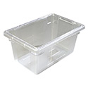 Carlisle StorPlus 5-Gallon Clear Food Storage Box 18\x22 x 12\x22 x 9\x22