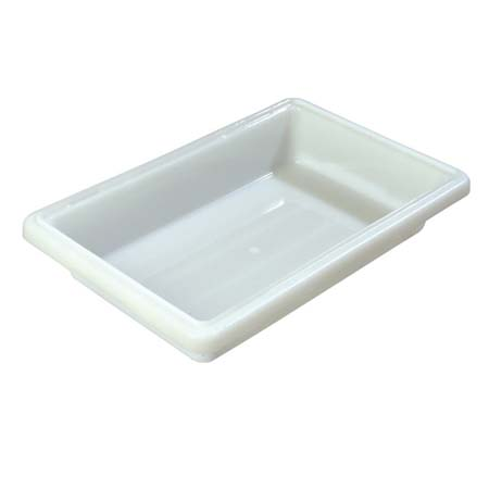 "Carlisle StorPlus 2-Gallon White Food Storage Box 18"" x 12"" x 3-1/2"""