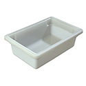 Carlisle StorPlus 3.5-Gallon White Food Storage Box 18\x22 x 12\x22 x 6\x22