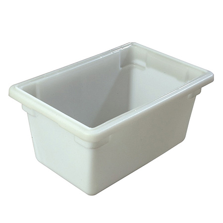 "Carlisle StorPlus 5-Gallon White Food Storage Box 18"" x 12"" x 9"""