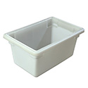 Carlisle StorPlus 5-Gallon White Food Storage Box 18\x22 x 12\x22 x 9\x22