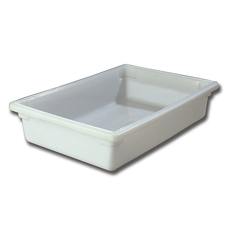 "Carlisle StorPlus 8-1/2-Gallon White Food Storage Box 26"" x 18"" x 6"""