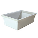 Carlisle StorPlus 12-1/2-Gallon White Food Storage Box 26\x22 x 18\x22 x 9\x22