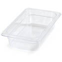 Carlisle StorPlus 1/4-Size Clear Food Pan 6-3/8\x22 x 10-1/2\x22 x 2-1/2\x22 Deep