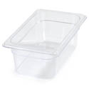 Carlisle StorPlus 1/4-Size Clear Food Pan 6-3/8\x22 x 10-1/2\x22 x 4\x22 Deep