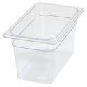 Carlisle StorPlus 1/4-Size Clear Food Pan 6-3/8\x22 x 10-1/2\x22 x 6\x22 Deep