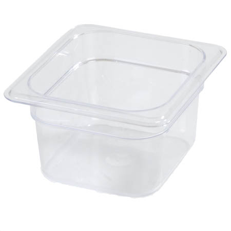 "Carlisle StorPlus 1/6-Size Clear Food Pan 6-3/8"" x 6-3/4"" x 2-1/2"" Deep"