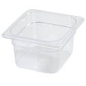 Carlisle StorPlus 1/6-Size Clear Food Pan 6-3/8\x22 x 6-3/4\x22 x 2-1/2\x22 Deep