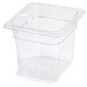 Carlisle StorPlus 1/6-Size Clear Food Pan 6-3/4\x22 x 6-3/8\x22 x 6\x22 Deep