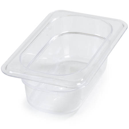 "Carlisle StorPlus 1/9-Size Clear Food Pan 6-3/4"" x 4-1/4"" x 2-1/2"" Deep"