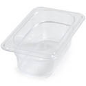Carlisle StorPlus 1/9-Size Clear Food Pan 6-3/4\x22 x 4-1/4\x22 x 2-1/2\x22 Deep