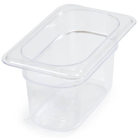 "Carlisle StorPlus 1/9-Size Clear Food Pan 6-3/4"" x 4-1/4"" x 4"" Deep"