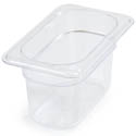 Carlisle StorPlus 1/9-Size Clear Food Pan 6-3/4\x22 x 4-1/4\x22 x 4\x22 Deep