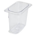 Carlisle StorPlus 1/9-Size Clear Food Pan 6-3/4\x22 x 4-1/4\x22 x 6\x22 Deep