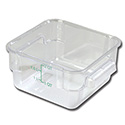 Carlisle StorPlus 2-Quart Clear Square Food Storage Container 4\x22H