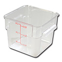 Carlisle StorPlus 6-Quart Clear Square Food Storage Container 7\x22H