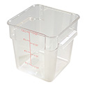 Carlisle StorPlus 8-Quart Clear Square Food Storage Container 9\x22H