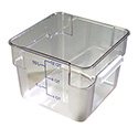 Carlisle StorPlus 12-Quart Clear Square Food Storage Container 8\x22H