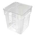 Carlisle StorPlus 18-Quart Clear Square Food Storage Container 13\x22H