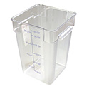 Carlisle StorPlus 22-Quart Clear Square Food Storage Container 16\x22H
