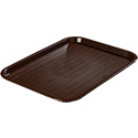 "Carlisle Café Polypropylene Chocolate Fast Food Tray 10"" x 14"""