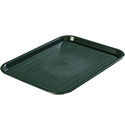 "Carlisle Café Polypropylene Forest Green Fast Food Tray 10"" x 14"""