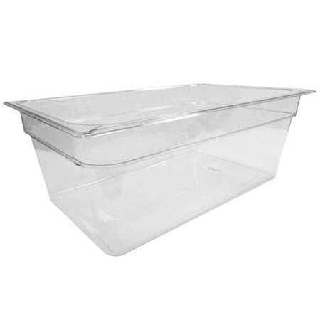 "Carlisle Full Size Clear Food Pan 12-3/4"" x 20-3/4"" x 8"" Deep"
