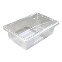 Carlisle StorPlus 3.5-Gallon Clear Food Storage Box 18\x22 x 12\x22 x 6\x22